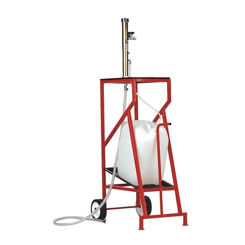 TP95A Sealey Air Operated Fuel Tank Drainer with Mobile Trolley