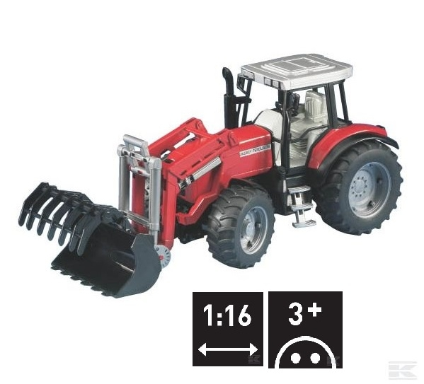 U02042 MF 8240 With Front Loader 1:16 scale