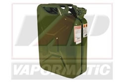 Jerry can - green metal fuel can 20l