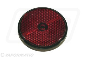 Round red reflector 61mm (pack of 4)