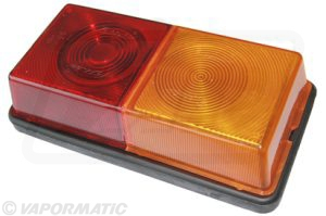 Rubbolite Rear combination lamp with one piece lens.