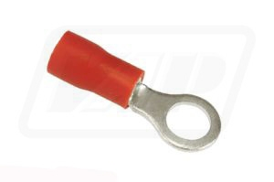 Red ring terminal 5mm (pack of 50)
