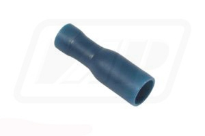 Blue female bullet terminal 5mm (pack of 10)